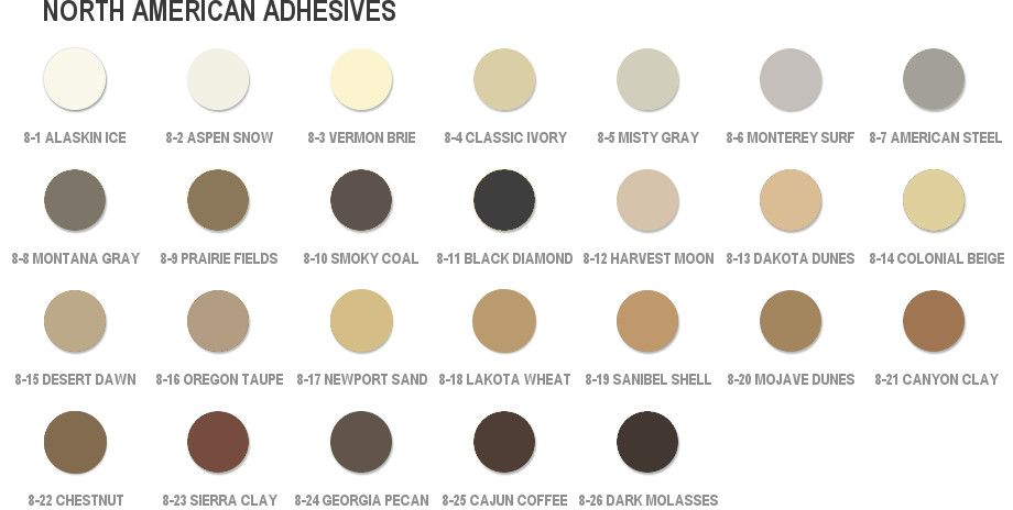 north-american-adhesive-colors